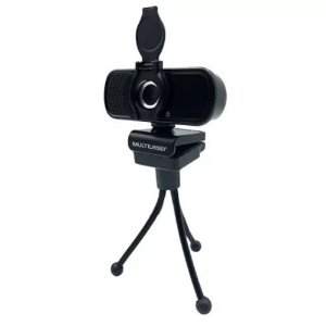 Webcam Full HD Multilaser WC055 com Tripé Preto