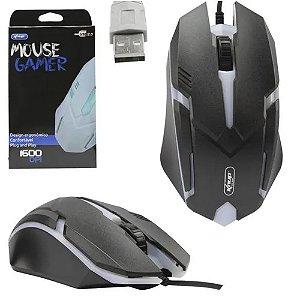 Mouse Gamer Óptico com Fio  Knup KP-V40  Preto