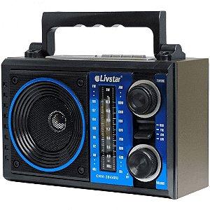 Rádio Portátil Livstar CNN-2844RU 220V Azul