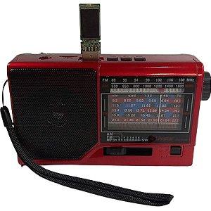 Rádio Livstar CNN-959BT AM/FM/SW1-6 3W Vermelho