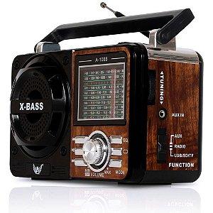 Rádio Portátil Altomex A-1088 FM/AM/SW1-7 Marrom