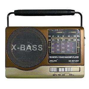 Rádio Song Star  SS-897UBT FM/AM/SW1-6 Marrom