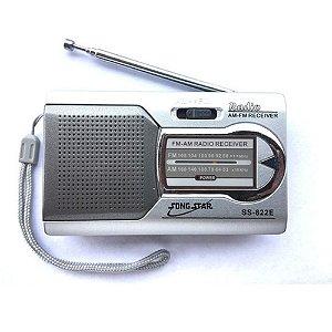 Rádio Portátil Song Star SS-822E AM/FM Prata
