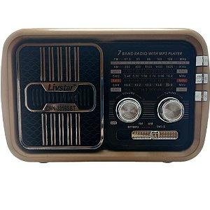 Rádio Portátil Livstar CNN-3316SBT FM/AM/SW1-5