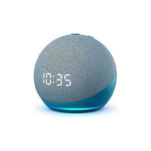 Amazon Alexa Echo Dot 4ª Geração Azul com Relógio