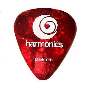 Palheta Harmonics 0,58mm Vermelha