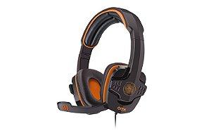 Fone Gamer OEX HS203 Target Preto/Laranja