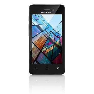 """SMARTPHONE MULTILASER MS40S P9025 PRETO 4"""" CÂMERA 2 MP + 5 MP 3G QUAD CORE 8GB ANDROID 6.0"""