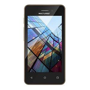 "SMARTPHONE MULTILASER MS40S P9041 PRETO/DOURADO 4"" CÂMERA 2 MP + 5 MP 3G QUAD CORE 8GB ANDROID 6.0"