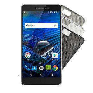 "SMARTPHONE MULTILASER MS70 P9036 4G DUAL CHIP ANDROID 6.0 TELA 5,85"" OCTA-CORE 64GB DUAL CÂMERA 16MP+8MP PRATA"