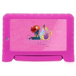 "Tablet Multilaser Disney Princesas 7"" NB281 1GB Ram 8GB Rosa"