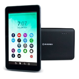 "Tablet Everex Fine7 7"" 512Mb Ram 8GB Preto"