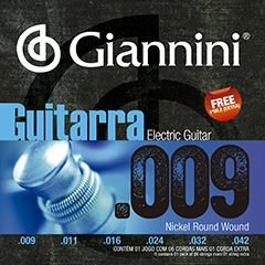 Encordoamento de Guitarra Giannini GEEGST9