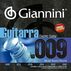 Encordoamento de Guitarra Giannini GEEGST9