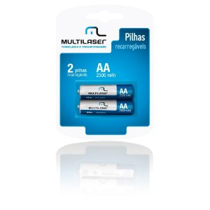 Pilha Multilaser Recarregavel AA com 2 CB053