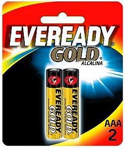 Pilha Eveready Gold AAA com 2 A92BP-2