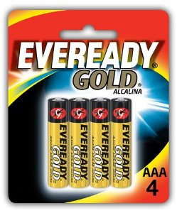 Pilha Eveready Gold AAA com 4 A92BP-4