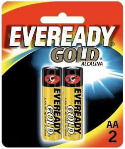 Pilha Eveready Gold AA com 2 A91BP-2
