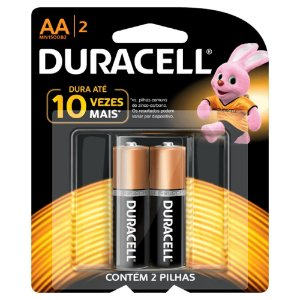 Pilha Duracell Alcalina AAA com 2 MN2400B2