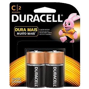 Pilha Duracell Alcalina C com 2 MN1400B2