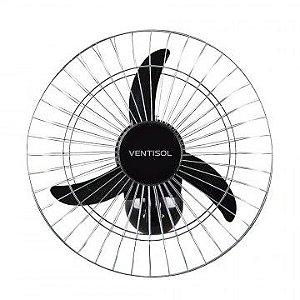 Ventilador Ventisol 50cm Parede Comercial 3 Pas Preto