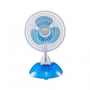 Ventilador Ventisol 20cm Mesa Mini Premium Branco/Azul