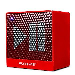 Caixa de Som Multilaser SP279 Speaker Vermelha