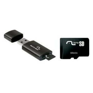 Memoria Multilaser 8GB + Adaptador USB MC120