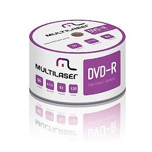 DVD-R Multilaser DV052 8X Printable  Com 50 Unidades
