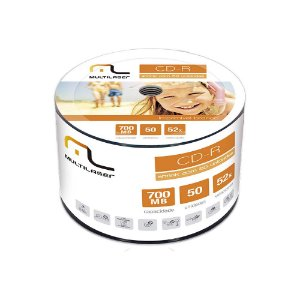 CD-R Multilaser CD052 Printable Embalagem com 50 Unidades