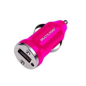 Carregador Automotivo Multilaser CB107 Rosa