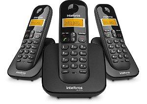 Telefone Intelbras TS3113 s/ Fio Preto