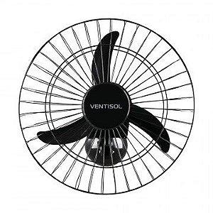 Ventilador de Parede 50cm Ventisol Comercial 3 Pas Preto Bivolt