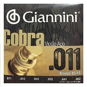 Encordoamento de Violão Giannini GEEFLK .011