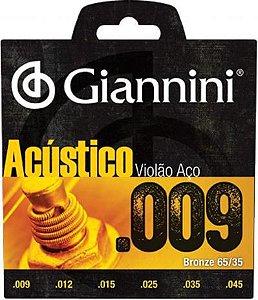 Encordoamento de Violão Giannini GESWAL .009