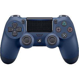 Controle Sem Fio Para Playstation 4 Sony Cuh-Zct2U Azul Meia Noite