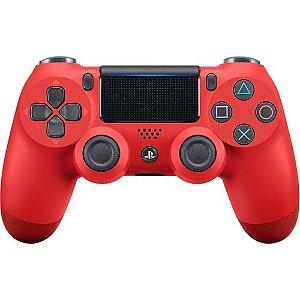 Controle Sem Fio Para Playstation 4 Sony Cuh-Zct2U Vermelho
