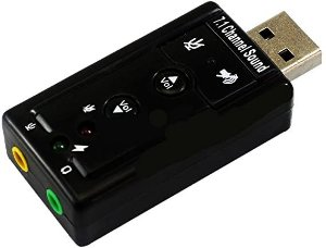 Adaptador Placa de Som HB-T79 USB Knup 2 Saidas