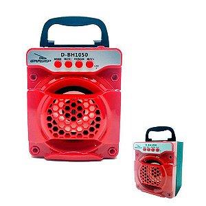 Caixa de Som Grasep D-Bh1050 Vermelha