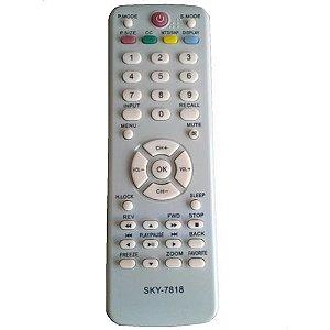 Controle Remoto para Tv H-Buster Gl-7818/Le-7818