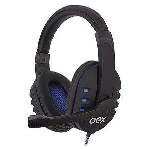 Fone de Ouvido Gamer Oex Hs206 Bit Preto/Azul
