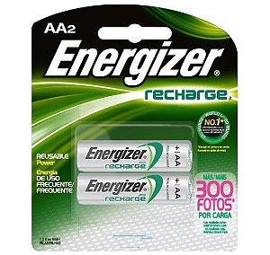 Pilha Energizer Aa C/2 Recarreg