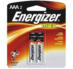 Pilha Energizer Palito Max Aaa-2 Par