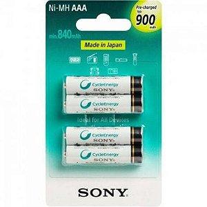 Pilha Sony Aaa Palito 900Mah C/ 4 Rec