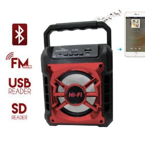 Caixa de Som Grasep D-S5 Vermelha