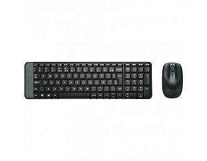 Teclado + Mouse Logitech MK220 s/ Fio Preto
