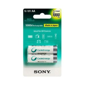 Pilha Sony Recarregavel NHAAB2RN AA com 2 Pilhas 1000mah