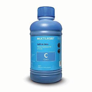 Refil de Tinta Multilaser RF014 250ml Ciano (Azul) para Epson