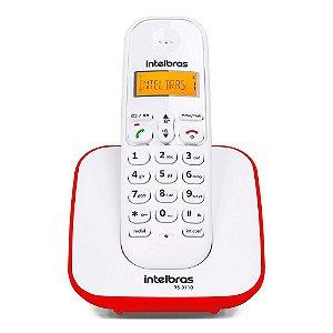Telefone Intelbras TS3110 sem Fio Branco e Vermelho