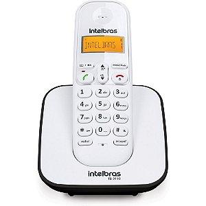 Telefone Intelbras TS3110 sem Fio Branco e Preto